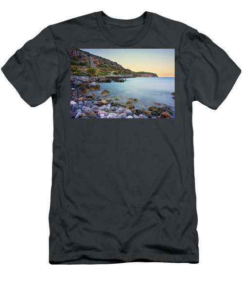 Rocky Coast Near Monemvasia Men's T-Shirt (Athletic Fit)