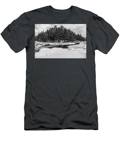 Men's T-Shirt (Athletic Fit) featuring the photograph Rocky Gorge N H, River Bend 1 by Michael Hubley