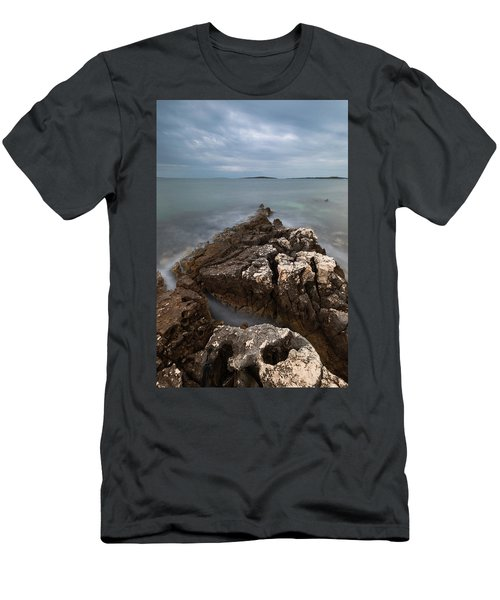 Men's T-Shirt (Athletic Fit) featuring the photograph Rocky Triangle by Davor Zerjav