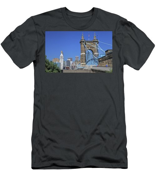 Roebling Bridge Men's T-Shirt (Athletic Fit)