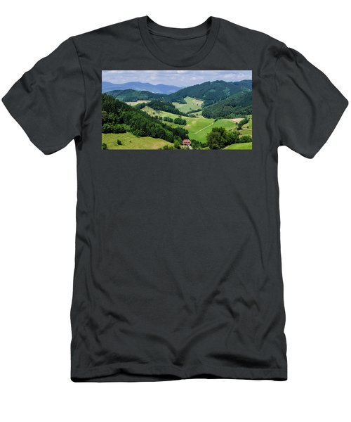 Rolling Hills Of The Black Forest Men's T-Shirt (Athletic Fit)