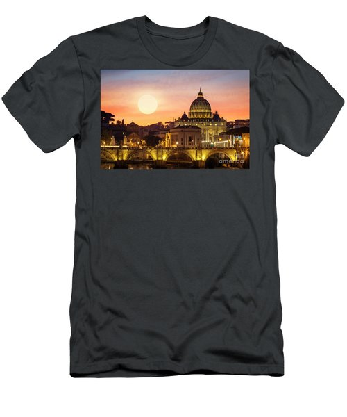 Men's T-Shirt (Athletic Fit) featuring the photograph Roman Sunset by Scott Kemper