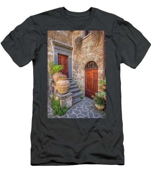 Romantic Courtyard Of Tuscany Men's T-Shirt (Athletic Fit)