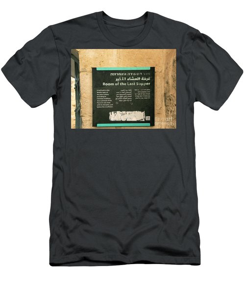 Men's T-Shirt (Athletic Fit) featuring the photograph Room Of The Last Supper by Mae Wertz