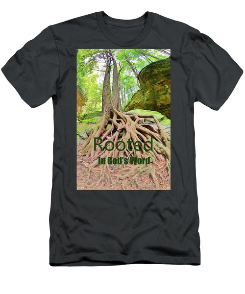Rooted In God's Word Men's T-Shirt (Athletic Fit)