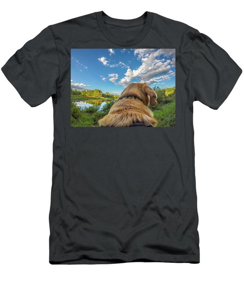 Men's T-Shirt (Athletic Fit) featuring the photograph Ross Pond Morning by Matthew Irvin