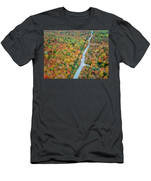 Men's T-Shirt (Athletic Fit) featuring the photograph Route 42 Aerial by Adam Romanowicz