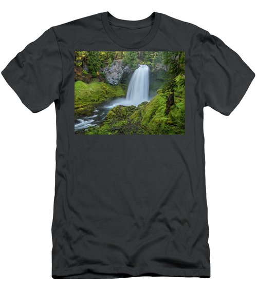 Men's T-Shirt (Athletic Fit) featuring the photograph Sahalie Falls, Summer by Matthew Irvin