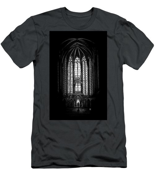 Men's T-Shirt (Athletic Fit) featuring the drawing Sainte-chapelle by Clint Hansen
