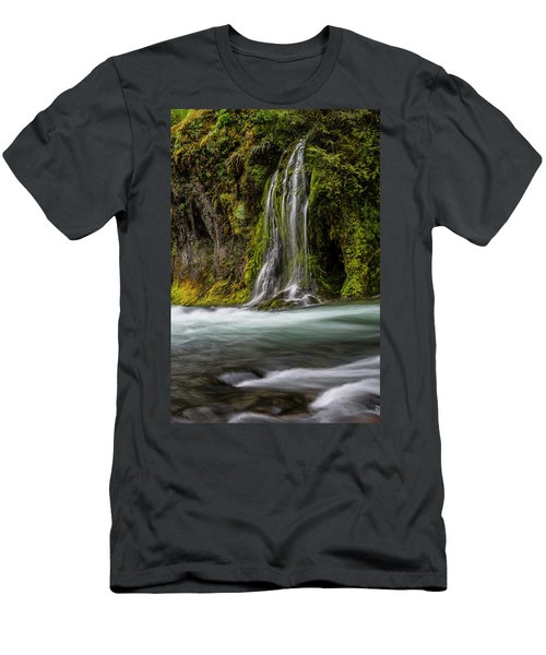 Men's T-Shirt (Athletic Fit) featuring the photograph Salt Creek Falls At Salmon Creek by Matthew Irvin