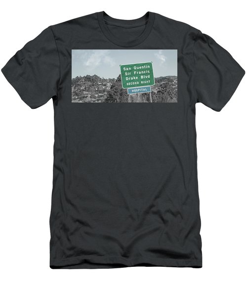 San Quentin California Highway Sign Men's T-Shirt (Athletic Fit)