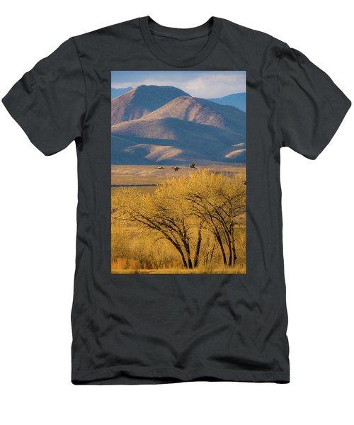Sandhill Cranes Near The Bosque Men's T-Shirt (Athletic Fit)
