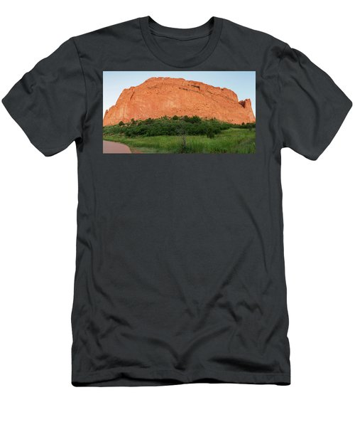 Sandstone Rock Formation Called The Kissing Camels In Colorado Men's T-Shirt (Athletic Fit)