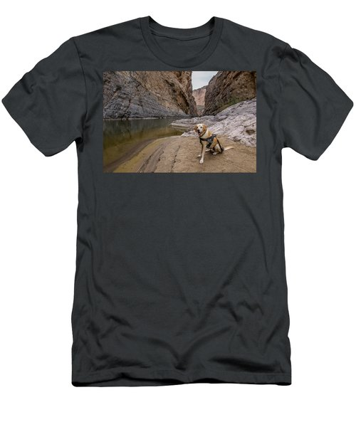 Men's T-Shirt (Athletic Fit) featuring the photograph Santa Elena Canyon by Matthew Irvin