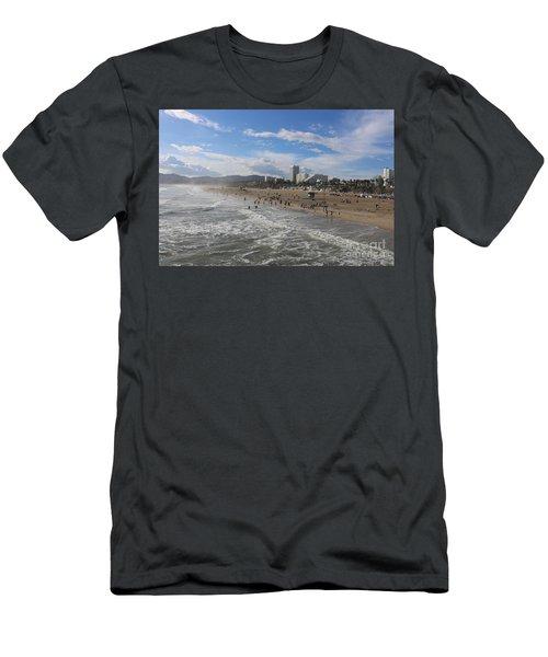 Santa Monica Beach , Santa Monica, California Men's T-Shirt (Athletic Fit)