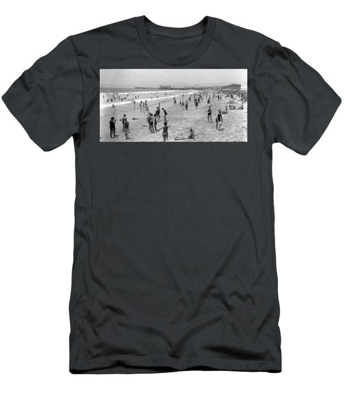 Santa Monica Beach Circa 1920 Men's T-Shirt (Athletic Fit)