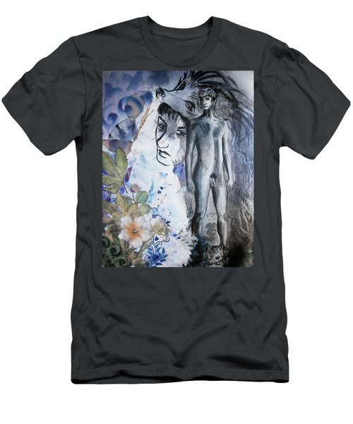 Men's T-Shirt (Athletic Fit) featuring the painting Savior Of Squirrels   by Rene Capone