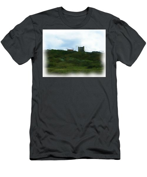 Scarborough Castle Painting Men's T-Shirt (Athletic Fit)