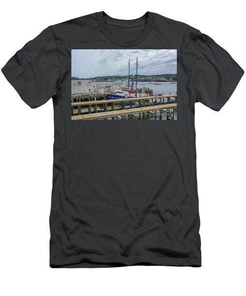 Scenic Harbor Men's T-Shirt (Athletic Fit)