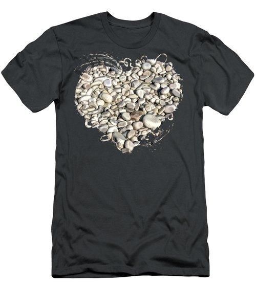 Schoolhouse Beach Rocks On Washington Island Door County Men's T-Shirt (Athletic Fit)