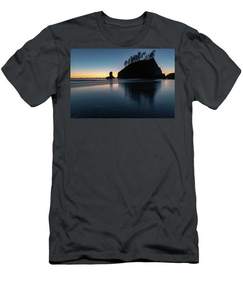 Sea Stack Silhouette Men's T-Shirt (Athletic Fit)