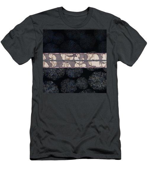 Sea Urchin Contrast Obi Print Men's T-Shirt (Athletic Fit)