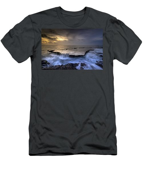 Sea Waterfalls Men's T-Shirt (Athletic Fit)