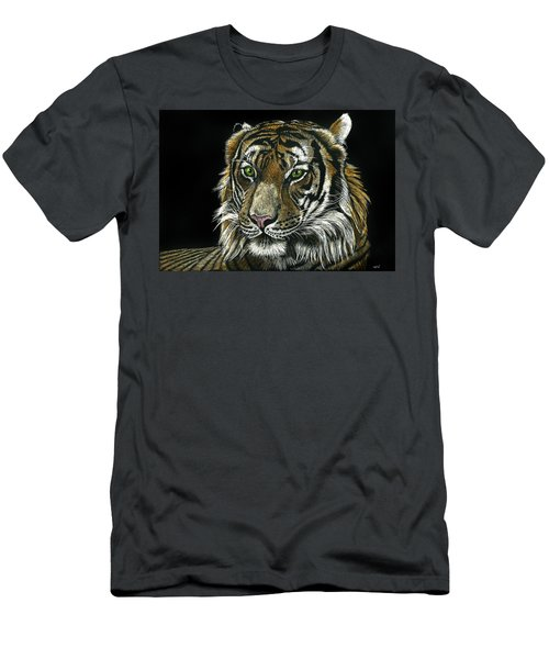 Seated Tiger Men's T-Shirt (Athletic Fit)
