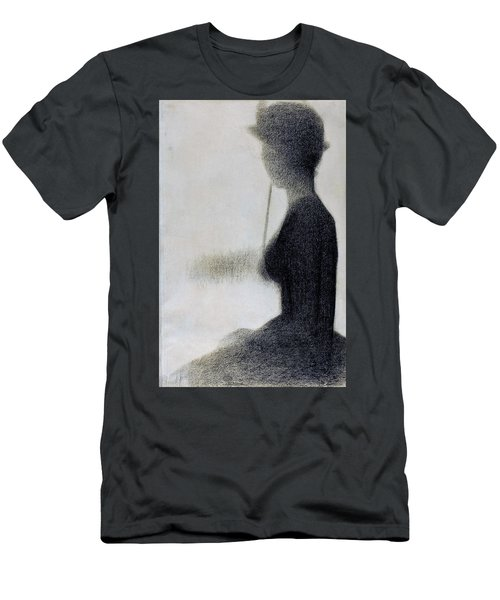 Seated Woman With A Parasol - Digital Remastered Edition Men's T-Shirt (Athletic Fit)