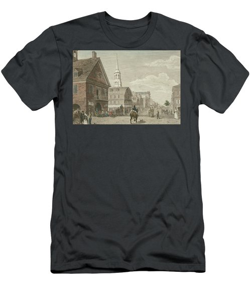 Second Street North From Market St. And Christ Church Men's T-Shirt (Athletic Fit)