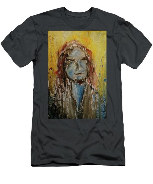 Men's T-Shirt (Athletic Fit) featuring the painting Selfie by Blake Emory