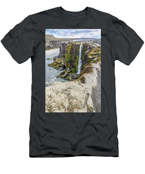 Men's T-Shirt (Athletic Fit) featuring the photograph Selfoss Waterfall - Iceland by Marla Craven