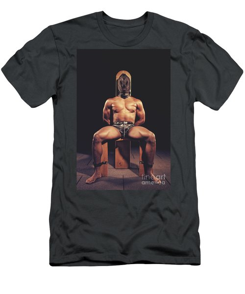 Sexy Man Tiedup On A Bdsm Chair Men's T-Shirt (Athletic Fit)