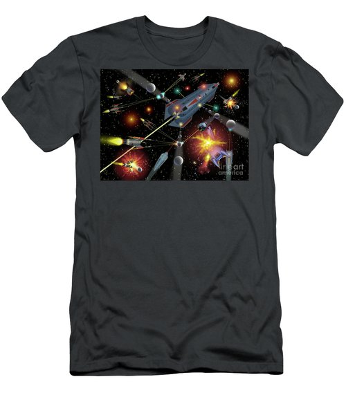 Sferogyls Space Battle Group Men's T-Shirt (Athletic Fit)