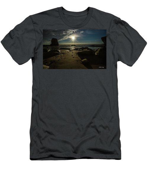 Shell Beach Sunburst Men's T-Shirt (Athletic Fit)