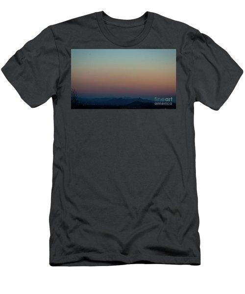 Sherbert Sunset Over The Blue Ridge Mountains Men's T-Shirt (Athletic Fit)