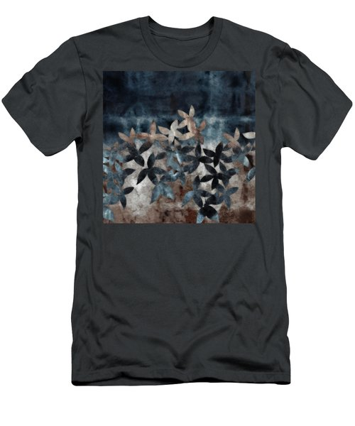Shibori Leaves Indigo Print Men's T-Shirt (Athletic Fit)