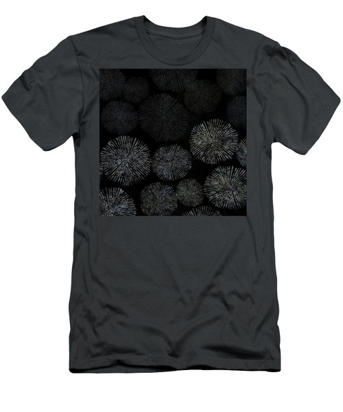 Shibori Sea Urchin Burst Pattern Men's T-Shirt (Athletic Fit)
