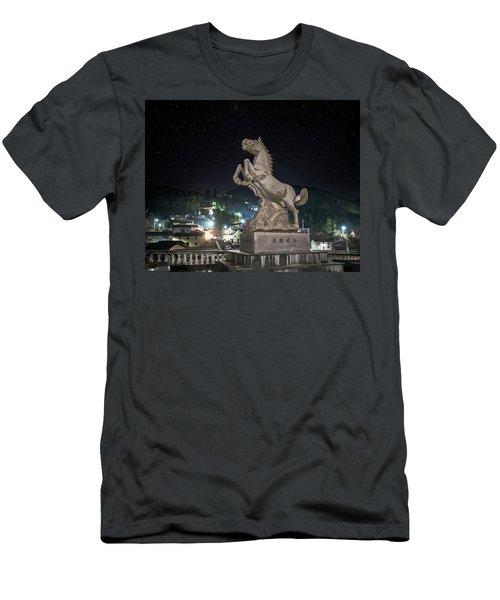 Shima Village Starry Night Men's T-Shirt (Athletic Fit)