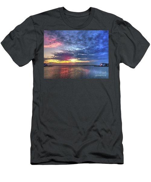 Ship Bottom Sunset Men's T-Shirt (Athletic Fit)