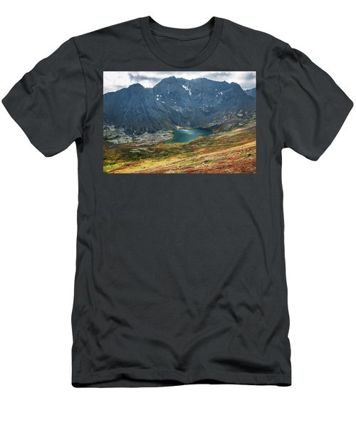 Men's T-Shirt (Athletic Fit) featuring the photograph Ship Lake In Autumn by Tim Newton