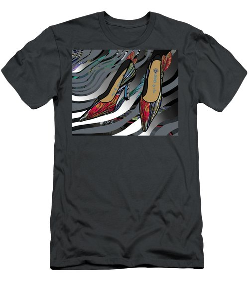 Shoes By Joan - Dragon Fly Wing Pumps Men's T-Shirt (Athletic Fit)