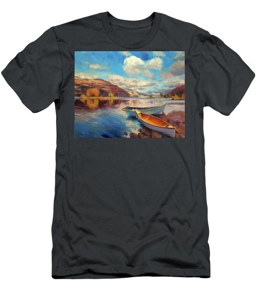 Men's T-Shirt (Athletic Fit) featuring the painting Shore Leave by Steve Henderson