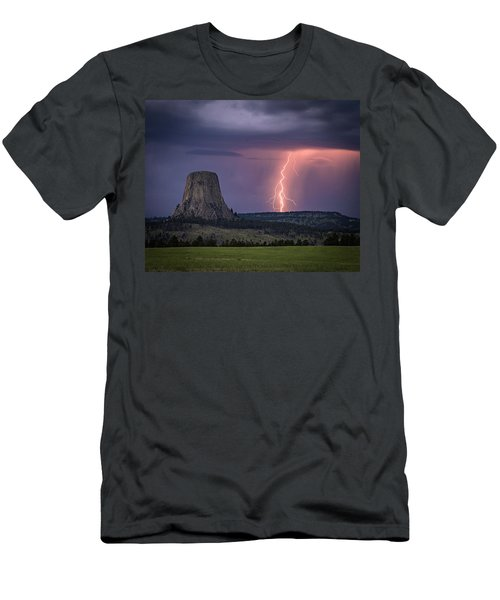 Showers And Lightning Men's T-Shirt (Athletic Fit)