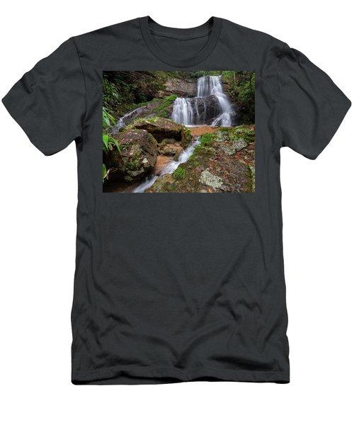 Shu Nu Waterfall 8x10 Horizontal Men's T-Shirt (Athletic Fit)