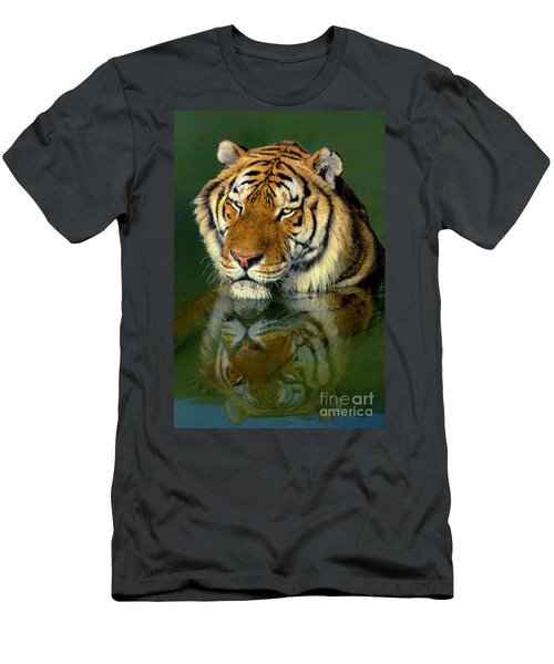 Siberian Tiger Reflection Wildlife Rescue Men's T-Shirt (Athletic Fit)