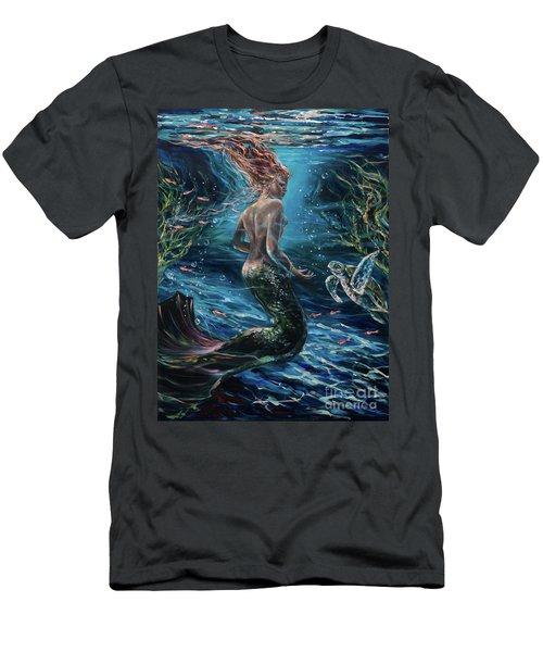 Silent Conversation Men's T-Shirt (Athletic Fit)