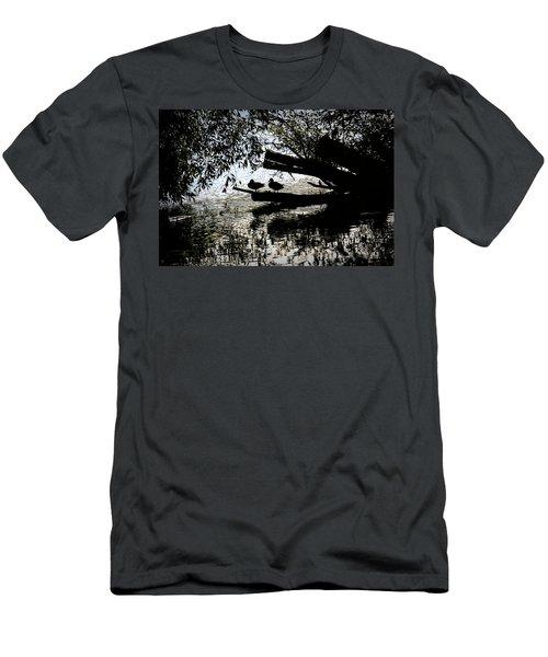 Silhouette Ducks #h9 Men's T-Shirt (Athletic Fit)