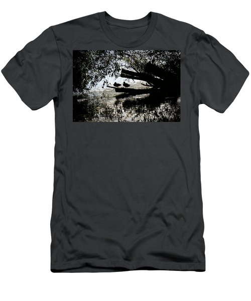 Silhouette Ducks #h9 Men's T-Shirt (Athletic Fit)