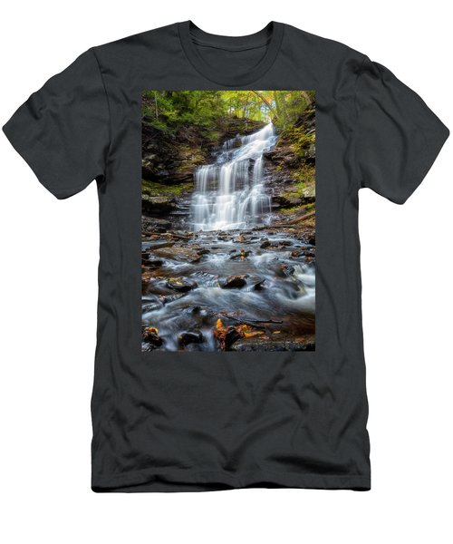 Men's T-Shirt (Athletic Fit) featuring the photograph Silky Flow by Russell Pugh